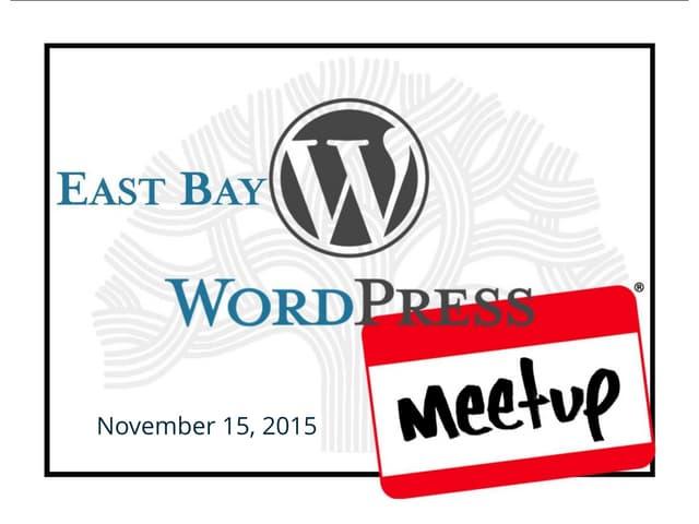WordPress Comments (November Meetup)
