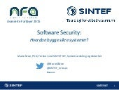 Software Security: Hvordan bygge sikre systemer?