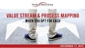 value stream mapping and metrics based process mapping
