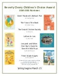 Beverly Cleary Children's Choice Award nominees, 2014-2015