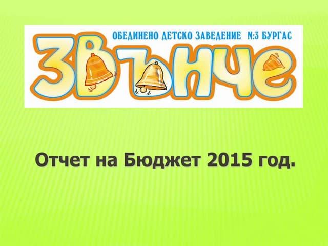 отчет на бюджет 2015