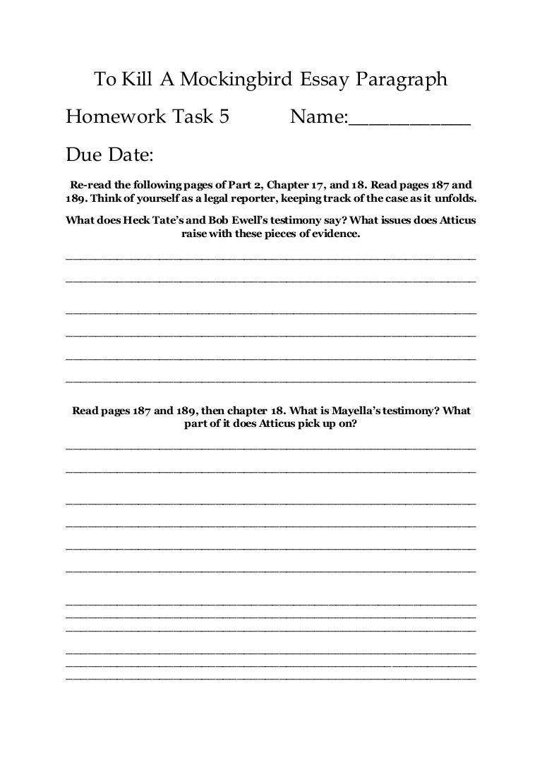 Worksheets To Kill A Mockingbird Worksheets mini essay 5 to kill a mockingbird paragraph homework