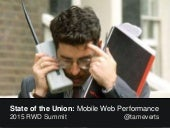 Preview of State of the Union: Mobile Web Performance