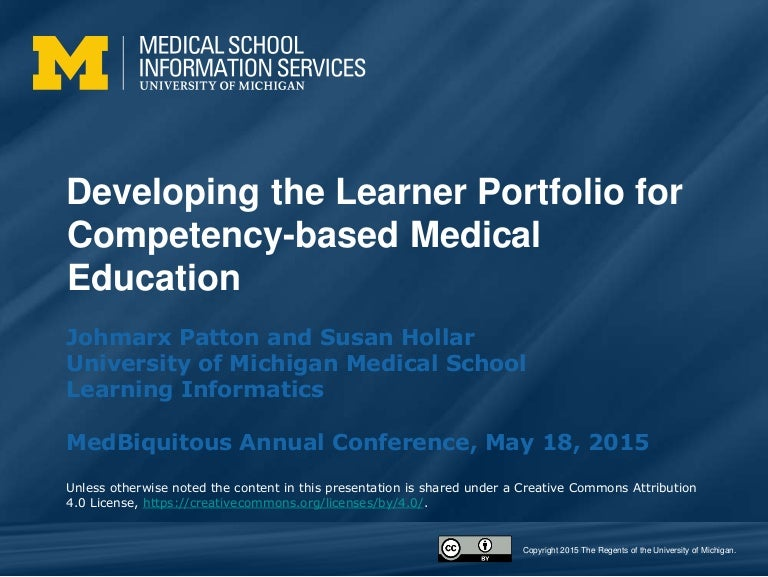 Developing the Learner Portfolio for Competency-based