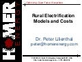 Rural Electrification Models and Costs