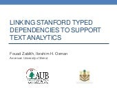 Linking Stanford Typed Dependencies to Support Text Analytics
