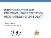 Interconnecting and Enriching Higher Education Programs using Linked Data