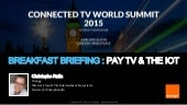 PAY TV & THE IOT