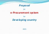 Proposal for e-Procurement System for Developing Country