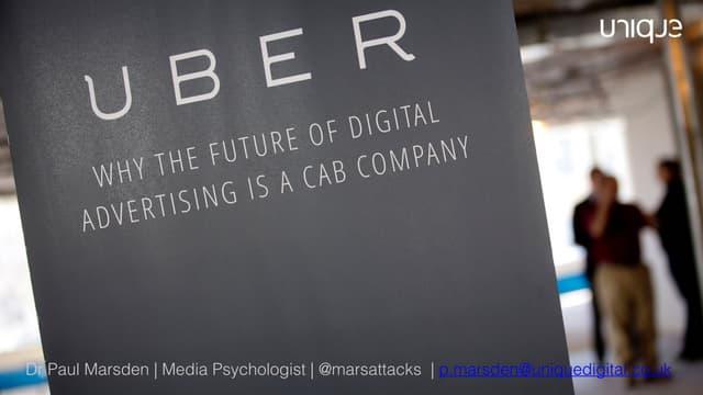 The Uberfication of Advertising