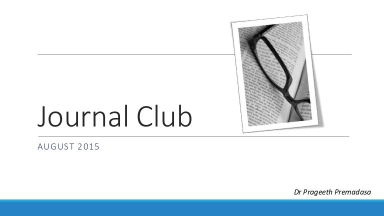 Journal club 2015 august start study pronofoot35fo Image collections