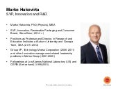 2015 capital markets day presentation by marko hakovirta