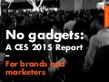 CES 2015: A No Gadget Report for Marketers & Brands