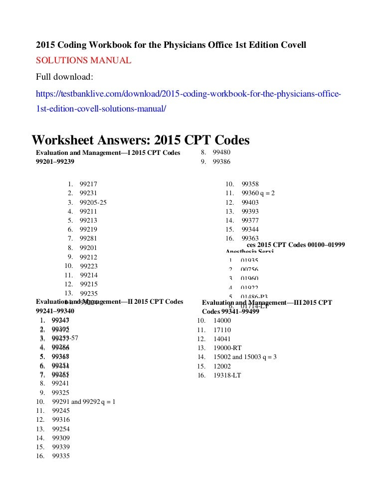 2015 coding workbook for the physicians office 1st edition covell sol publicscrutiny Image collections