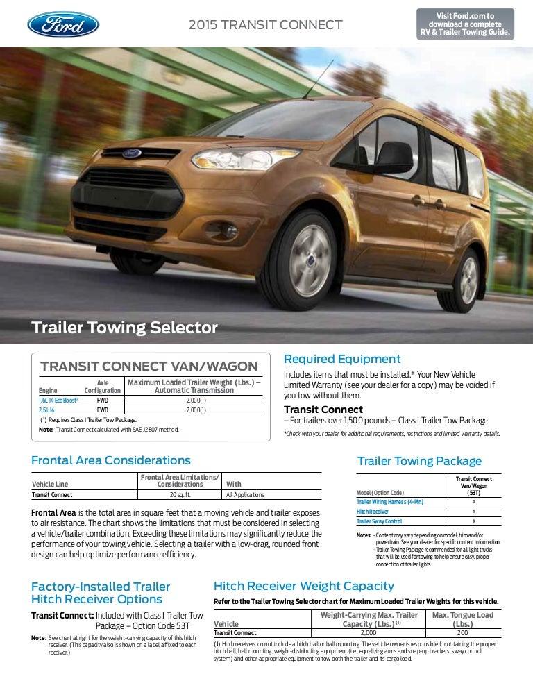Ford Transit Towing Capacity >> 2015 Ford Transit Connect Towing Capacity Information At El