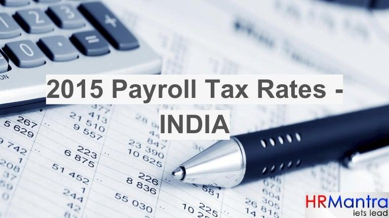 2015 payroll tax rates
