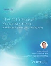 [REPORT] The 2015 State of Social Business