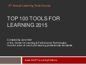 Top 100 Tools for Learning 2015