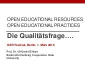 Open Educational Practices - Die Qualitätsfrage