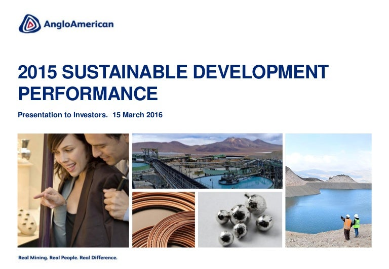 2015 Sustainable Development Performance: Investor Presentation
