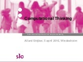 Computational thinking | 2016 04-05 windesheim studiedag