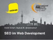 SEO im Web Development - webinale 2016