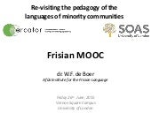 Re-visiting the pedagogy of the languages of minority communities - Frisian MOOC