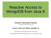 Reactive Access to MongoDB from Java 8