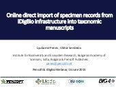 Online direct import of specimen records from iDigBio infrastructure into taxonomic manuscripts
