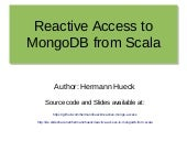 Reactive Access to MongoDB from Scala