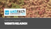 Website Relaunch SEO - WebTechCon 2016