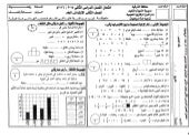 امتحانات الصف الثاني الابتدائي  مايو 2016