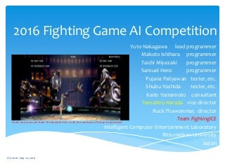 2016 Fighting Game Artificial Intelligence Competition