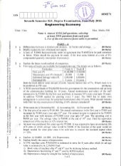7th Semester Mechanical Engineering (June-2016) Question Papers