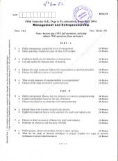 5th Semeste Electronics and Communication Engineering (June-2016) Question Papers