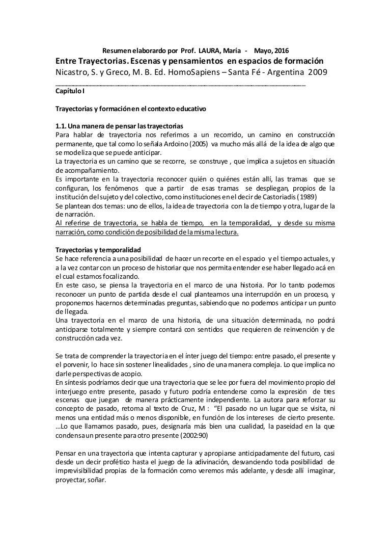 Nicastro y Greco- Resumen: \