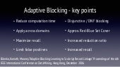 Overview of Adaptive Blocking for DDL Research Lab