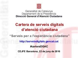 Cartera de serveis digitals