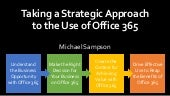 Taking a Strategic Approach to the Use of Microsoft Office 365