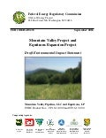 FERC DEIS for Mountain Valley Project and Equitrans Expansion Project