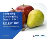 Delivering Sustainability Digitally - Integrating Sustainability Data in BIM