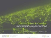ORCID Collect & Connect: understanding integrations and the API (M. Buys)