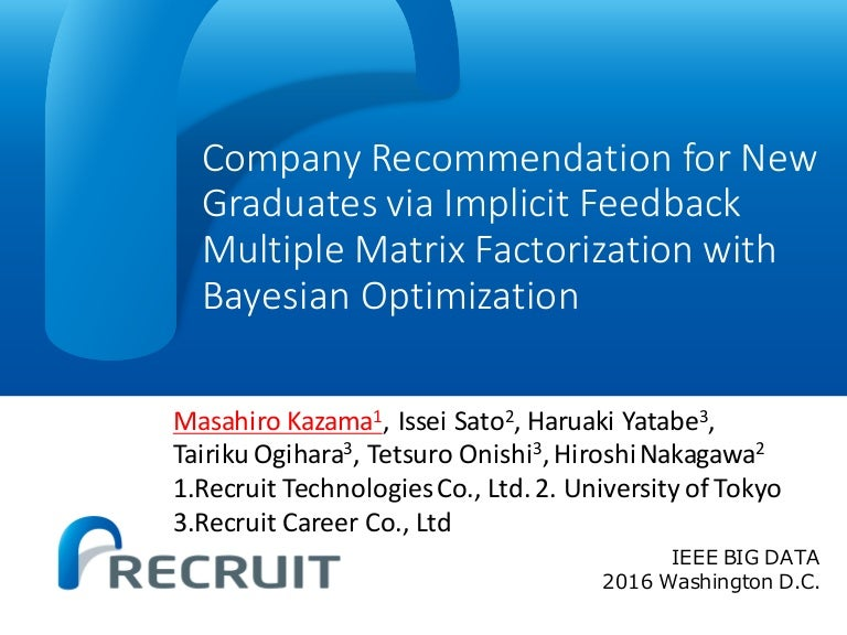 Company Recommendation for New Graduates via Implicit