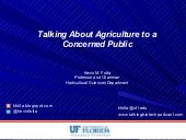 Talking About Agriculture to a Concerned Public