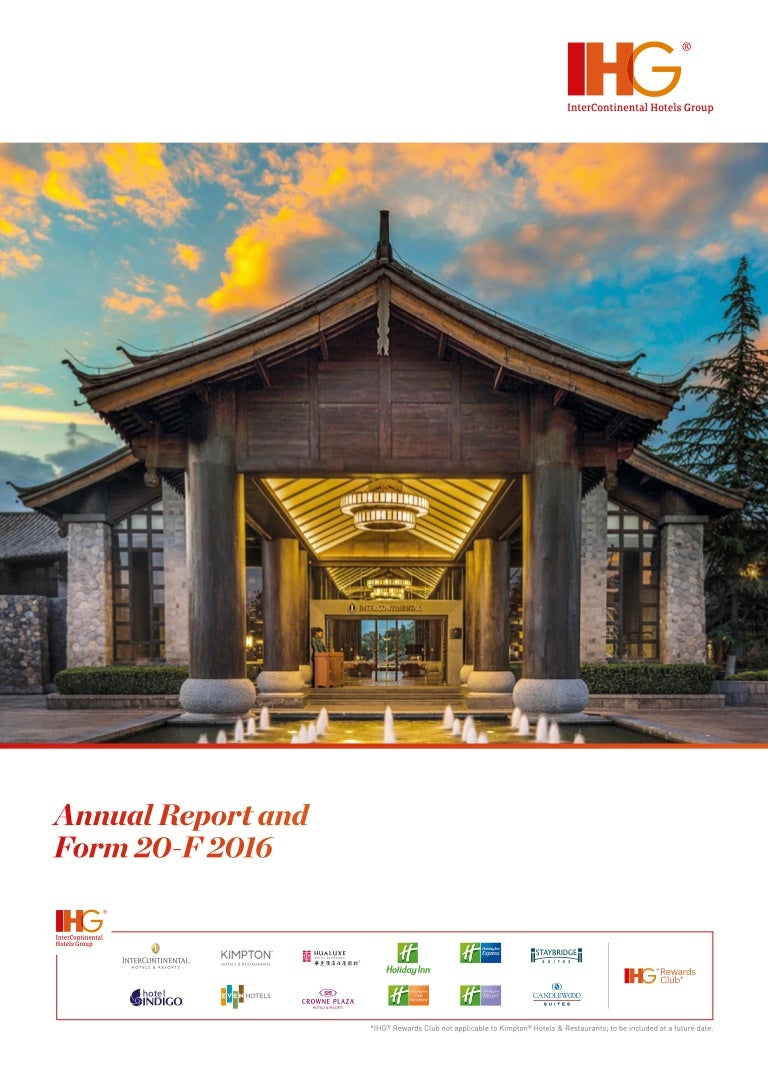 InterContinental Hotels Group (IHG) Annual Report and Form
