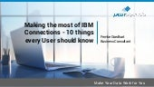 2016 DominoPoint MeetIT - 10 Things Every IBM Connections User Should Know