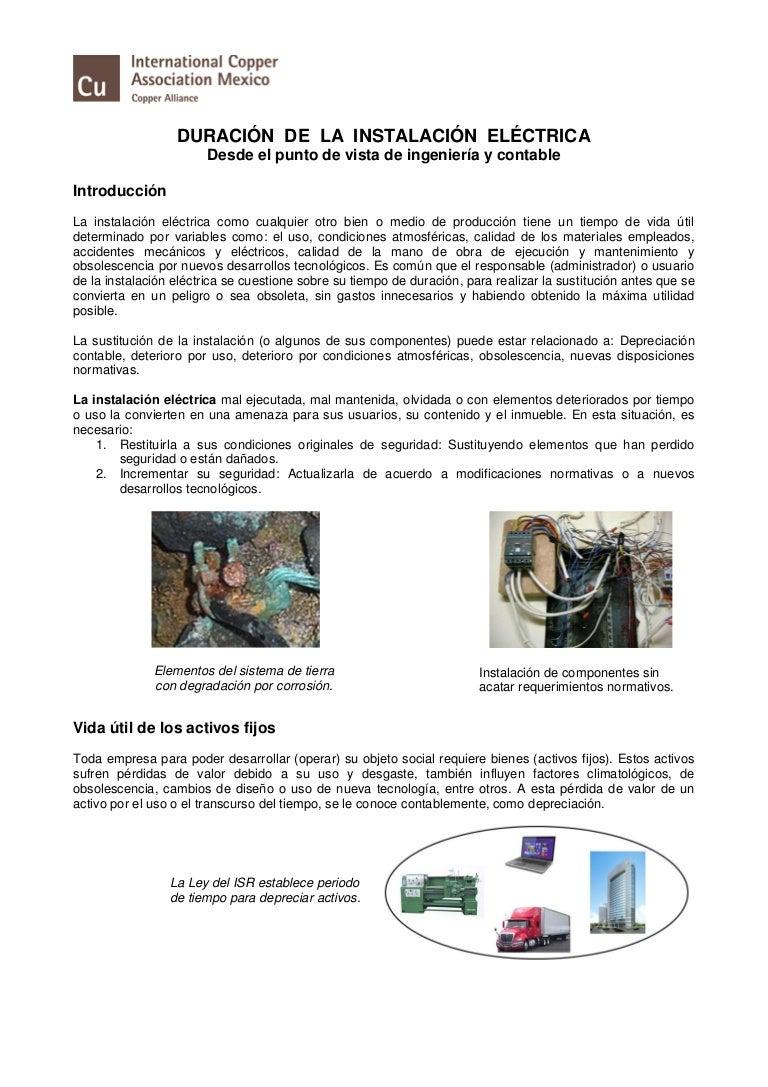 resumen ejecutivo duración de la instalación eléctrica ica procobr