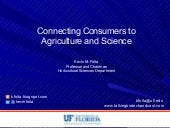 Connecting Consumers to Agriculture and Science