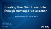 Creating Your Own Threat Intel Through Hunting & Visualization