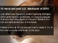 Top 10 unusual blackouts for 2016